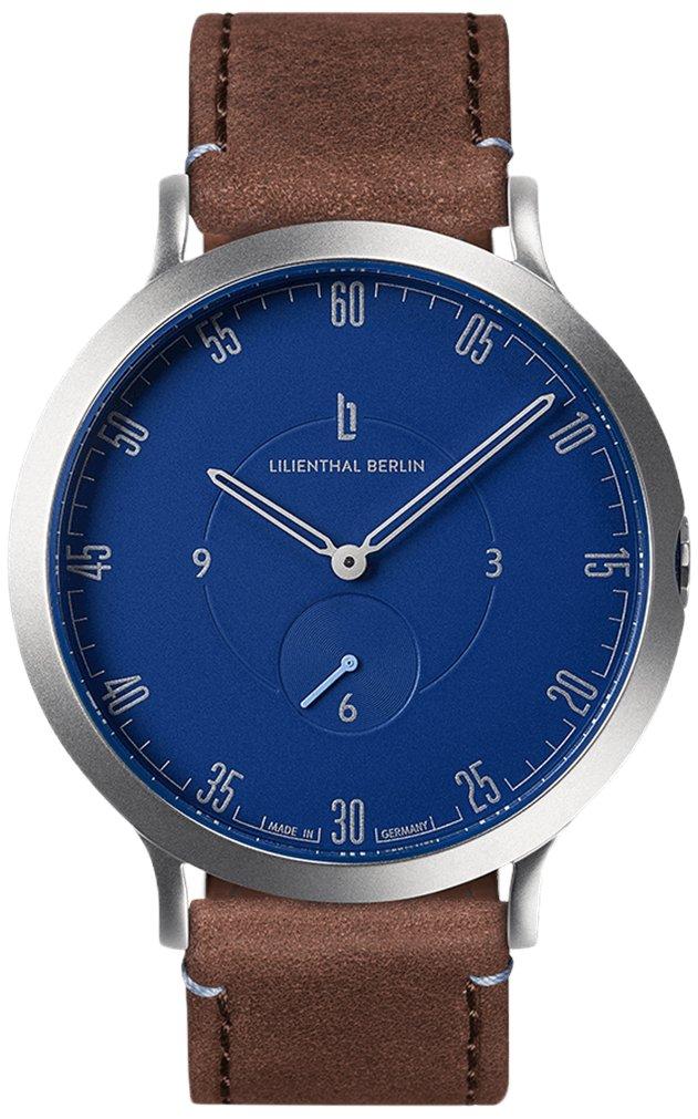 Lilienthal Berlin -Made in Germany- ベルリンの新しい時計モデル L1 ステンレススチール ケース B01N77ZK6X サイズ: 37.5 mm|ケース: シルバー/ ダイアル: ブルー/ ストラップ: ブラウン ケース: シルバー/ ダイアル: ブルー/ ストラップ: ブラウン サイズ: 37.5 mm