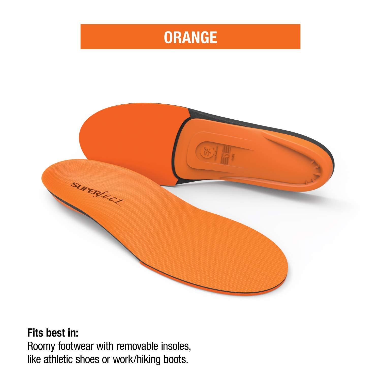 Superfeet Men's Orange Premium Insoles,Orange,F: 11.5-13 US Mens