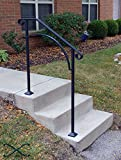 iron stair railing - DIY Iron X Handrail Arch #2 Fits 2 or 3 Steps