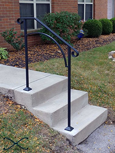 DIY Iron X Handrail Arch #2 Fits 2 or 3 Steps