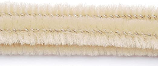 100 pieces 6mm Beige 12 inches Chenille Stems