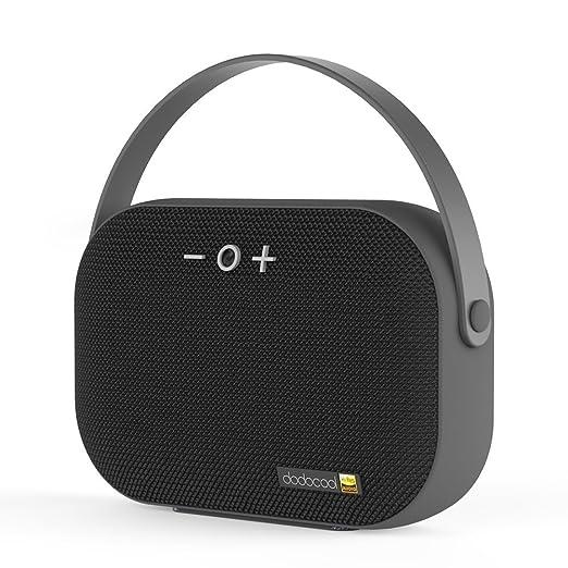 dodocool Altoparlante Bluetooth Hi-Res Stereo Speaker con Microfono Incorporato e Slot per Schede TF Ingresso USB Tempo di Riproduzione di 6 Ore Raggio di Connessione Bluettoth di 20 Metri Grigio