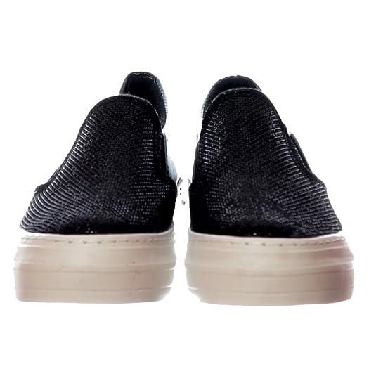 Amazon.com | Onlineshoe Womens Glitter Flat Loafer Shoes - Black Glitter, Silver Glitter | Shoes