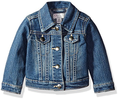 The Children's Place Baby Girls' Denim Jacket, China Blue 6065, 6-9 Months (Stonewashed Denim Jacket)