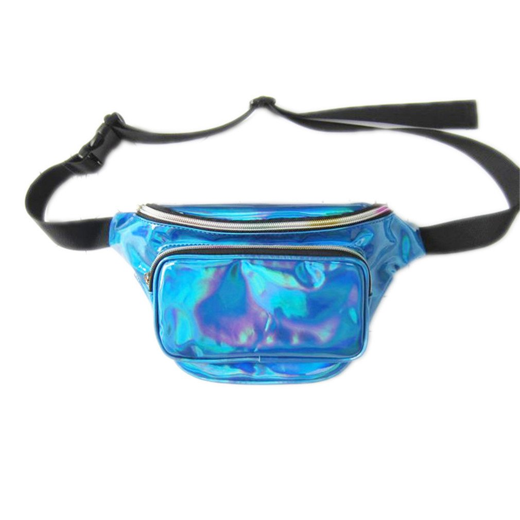 BAGGY Women PU Laser Waist Bag Holographic Leg Bag Leather Cascual Bags lan se
