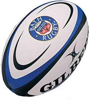 Gilbert Bath - Ballon de Rugby Réplique Officiel Blanc/Bleu 5