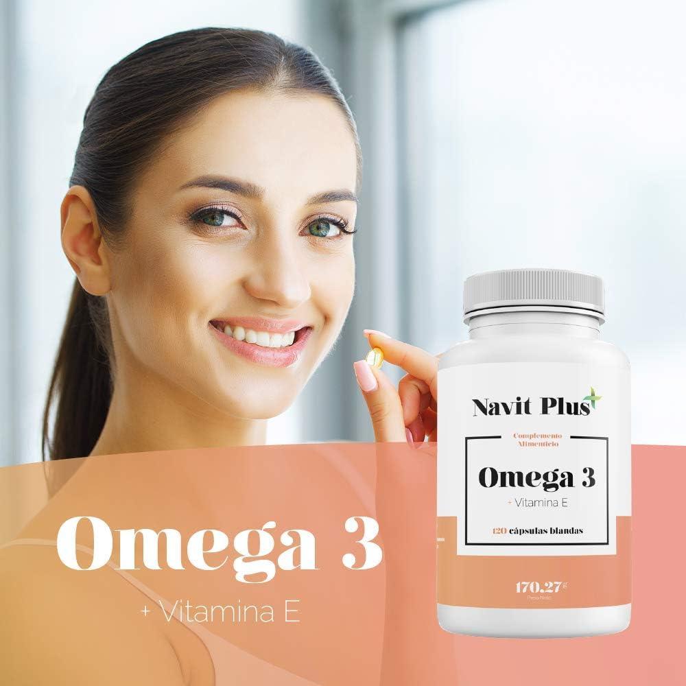 120 cápsulas de complemento alimenticio Navit Plus Omega 3 + Vitamina E por 13,56€