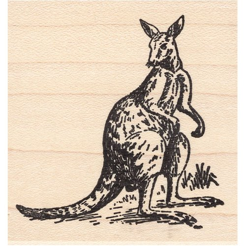 Kangaroo Rubber Stamp