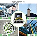 Plumbing Camera 100ft Waterproof IP68 DVR Video Inspection Equipment 7 Inch LCD Monitor HVAC Duct Drain Chimney Snake Pipe Cameras 30m Cable 1000TVL Sony CCD Cam with Luxury Box (Free 8GB SD Card)