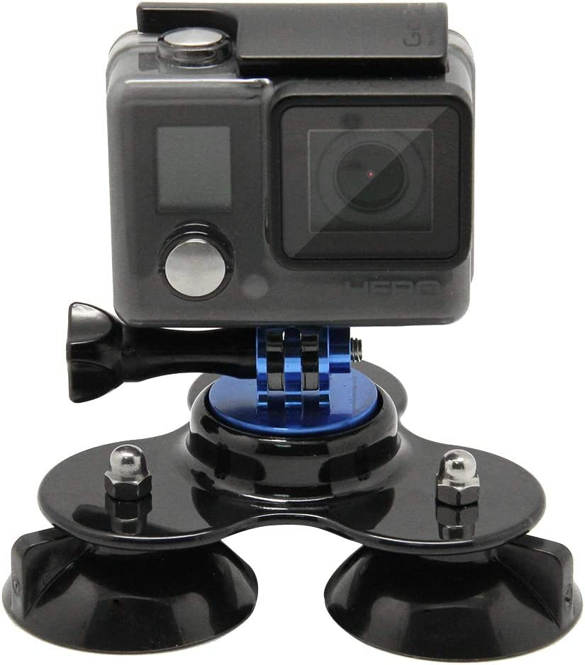 Color : Dark Blue Coyote Style Suction Cup Tripod Mount Handle Screw for GoPro Hero 4//3+ // 3//2 // 1 Reliable