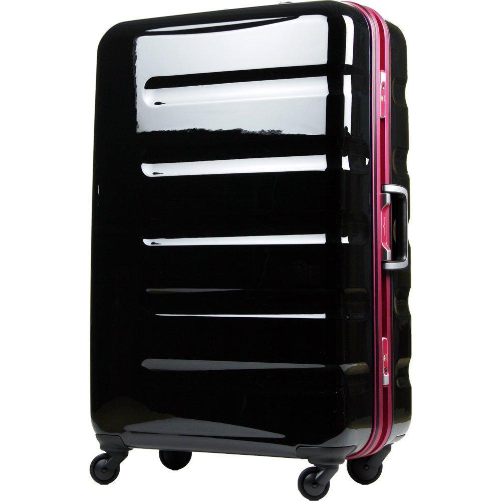 [レジェンドウォーカー] legend walker スーツケース 77L 5.4kg ポリカーボネート100% ヒノモトキャスター  ブラックピンク B00N4RAI4Y