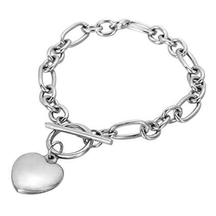 Amazon.com: Housweety Acero Inoxidable Corazón Colgante ...