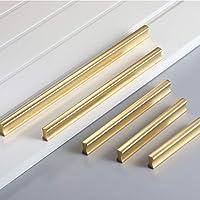 Angela-homestyle Meubelgrepen aluminium relinggreep handgreep voor keuken lade, deur, kasten decoratie (32mm, goud)
