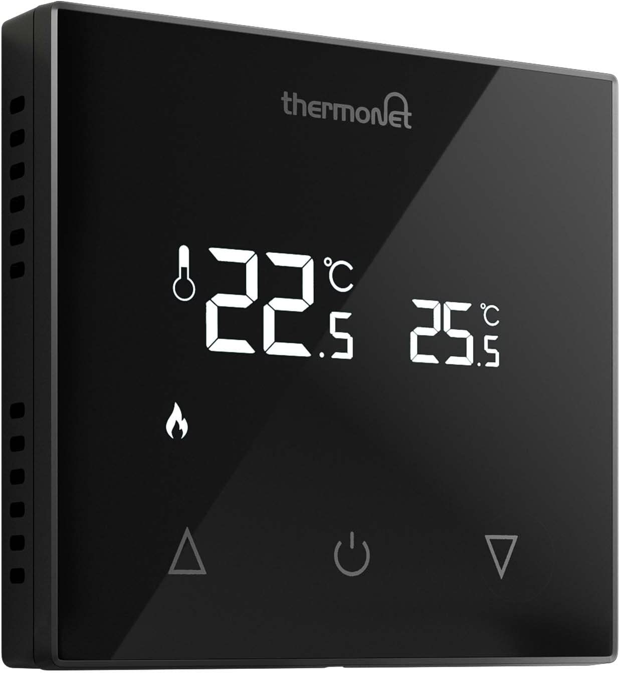 Thermotouch 5216 Manual Underfloor Heating Thermostat Glass Led Display Black Amazon Co Uk Diy Tools