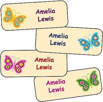 Pegatinas Personalizadas Con El Nombre Y Apellido | Adhesivos Personalizados Impermeables Con Motivos De Mariposas: Amazon.es: Coche y moto