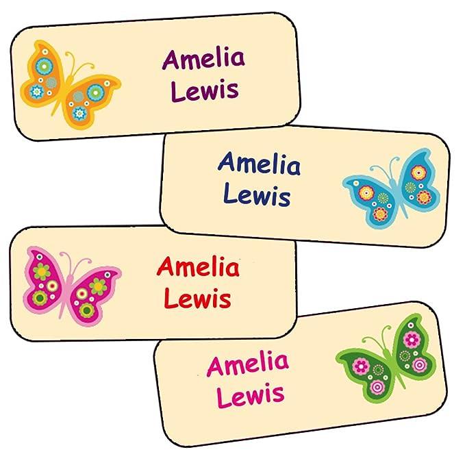 Adesivi Personalizzati Nome E Cognome | Adesivi Impermeabili Con Motivo Farfalle (40)