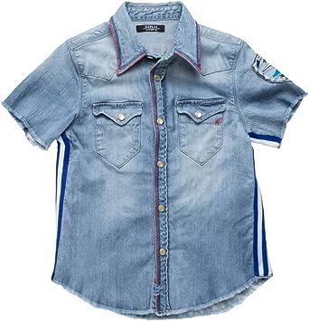 REPLAY - Camisa Infantil con Rayas Azul Azul Vaquero 12 Años: Amazon.es: Ropa y accesorios