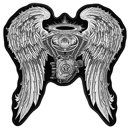 Embroidery patches motorcycle biker for jacket back full size and.
