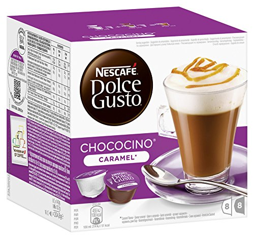 Choco Caramel - Nescafé Dolce Gusto Choco Caramel, Cocoa with Caramel, Pack of 3, 3 x 16 Capsules (8 Servings)