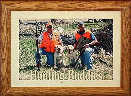 Hunting buddies picture frame