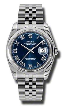 Rolex Datejust Blue Dial Roman Numerals