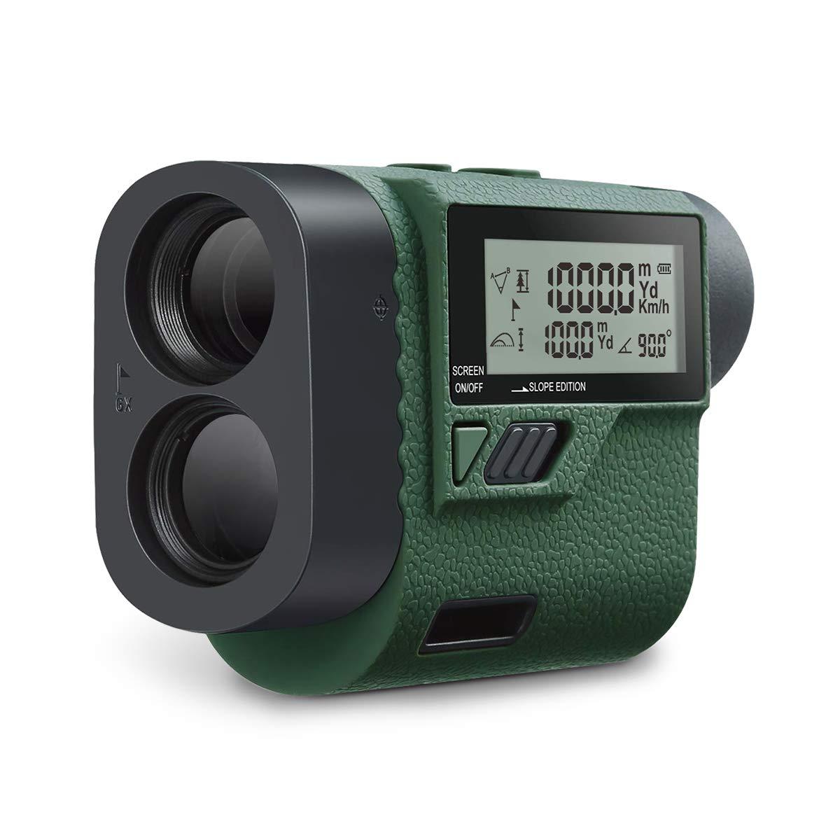 Huepar Golf Laser Rangefinder 1000 Yards 6X Laser Range Finder with Slope Adjustment- Golf Trajectory/Flag-Lock/Distance/Height/Speed/Angle Measurement, External LCD Screen for Golf, Hunting HLR1000 by Huepar