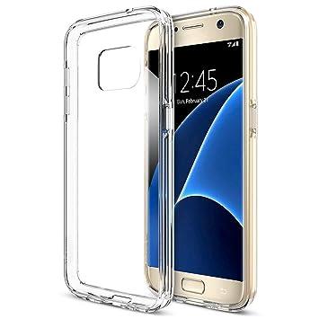 iVoler Coque Compatible avec Samsung Galaxy S7,  Ultra Transparente  Silicone en Gel TPU Souple b7ddf56ced88