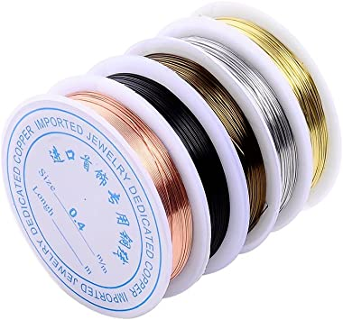 Jewelry Craft Wire for Jewelry Making Anezus Craft Wire 18 Gauge Tarnish Resistant Copper Beading Wire for Jewelry Making Supplies and Crafting 18 Gauge, Gold