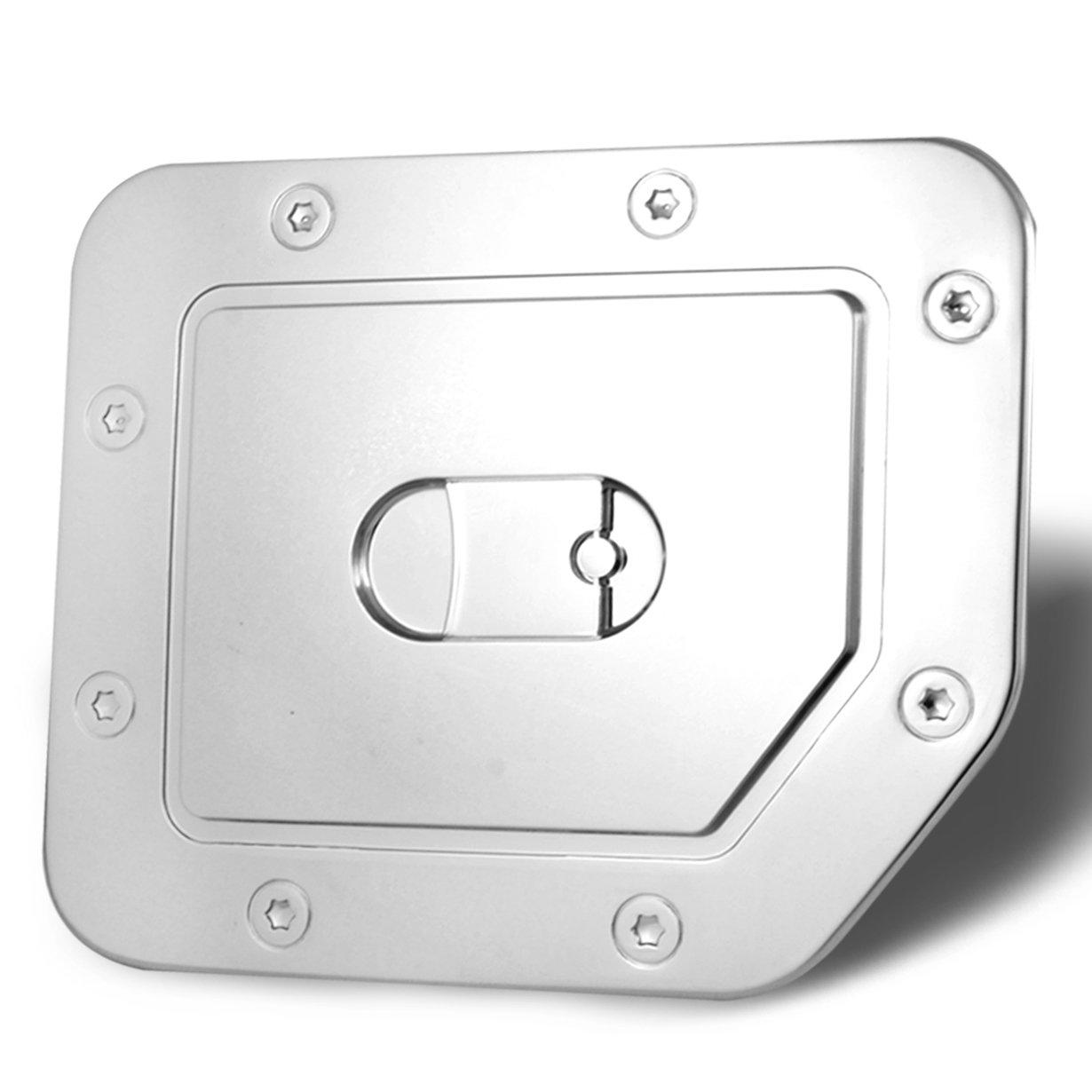 AutoModZone Chrome ABS Fuel Tank Gas Door Cap Cover for 04-15 Nissan Titan