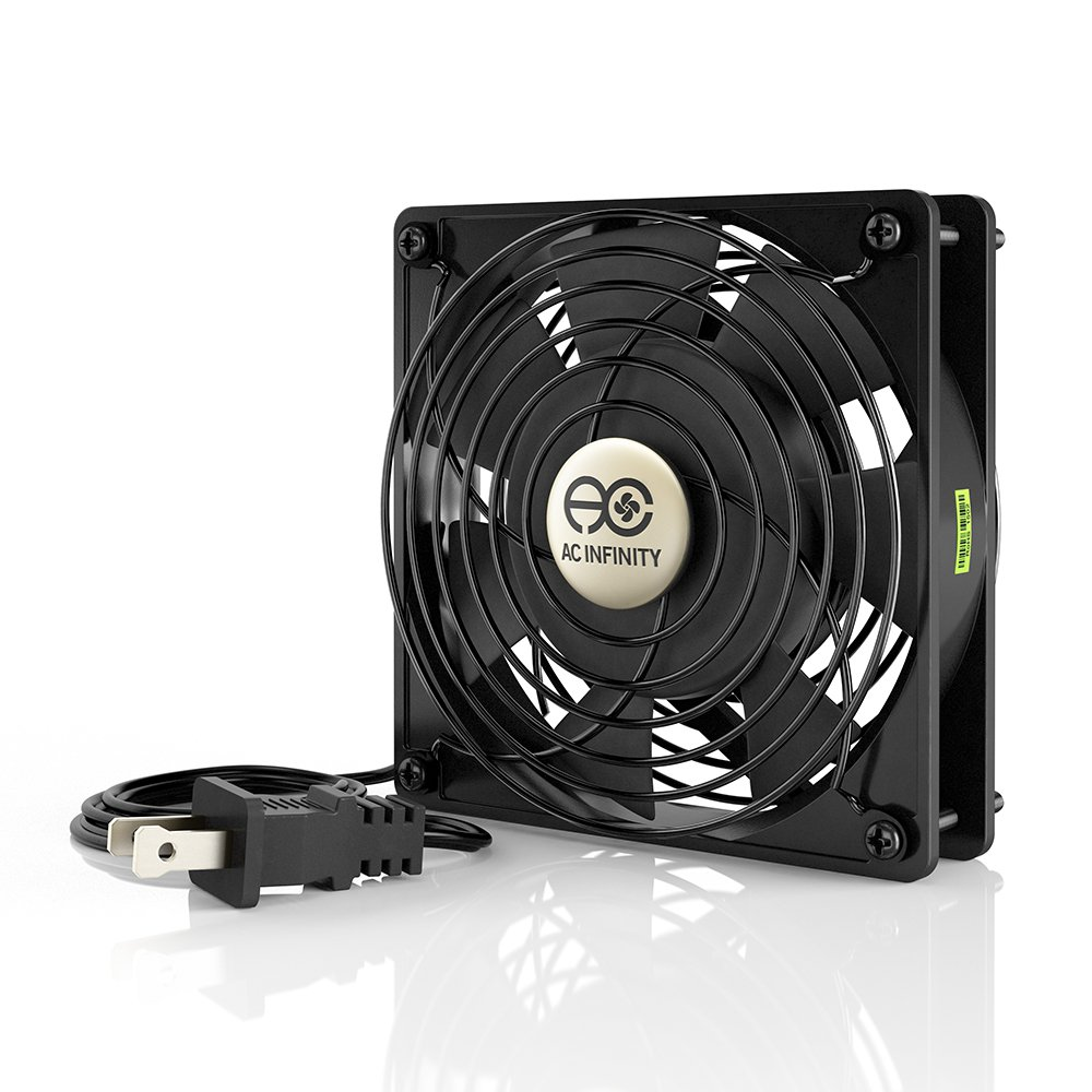 AC Infinity AXIAL 1225, Quiet Muffin Fan, 120V AC 120mm x 25mm Low Speed, for DIY Cooling Ventilation Exhaust Projects