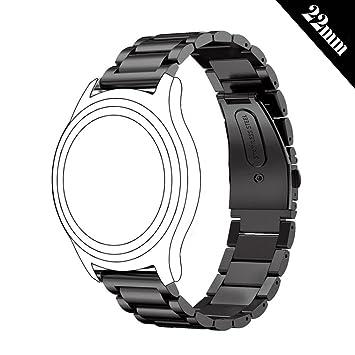 Shellong - Correa de repuesto para reloj de pulsera Samsung Gear S3 Classic y Frontier,