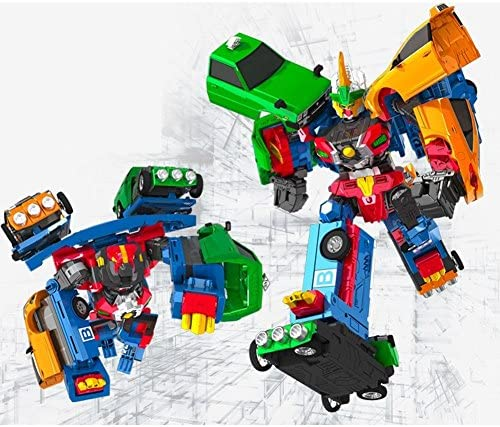 HELLO CARBOT Road Saver Dual Transforming System Robot Mode coalescence Transformer 3 Cars Copolymer Robot Tranforming Toy