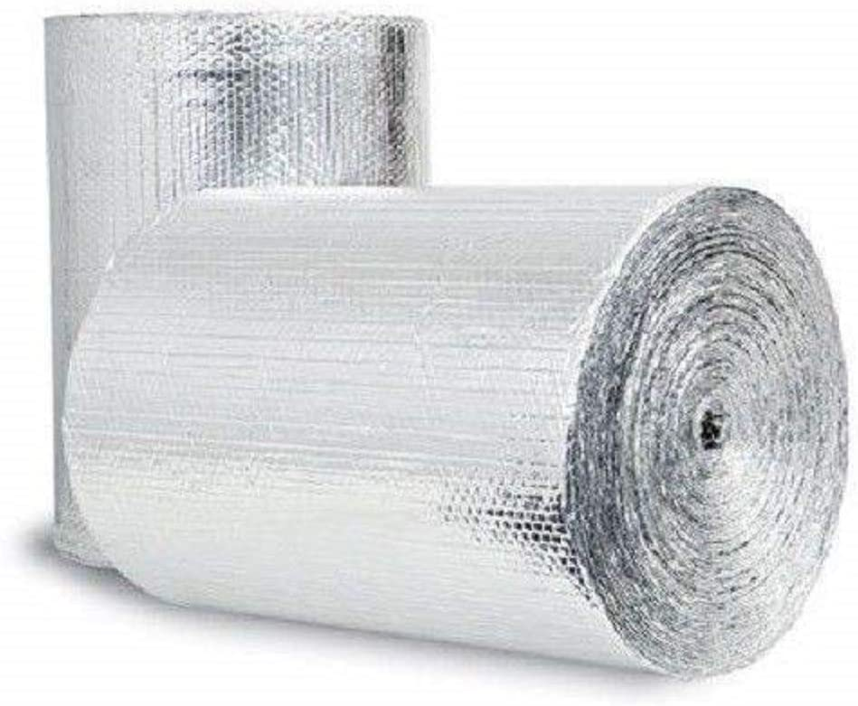 Double Bubble Reflective Foil Insulation (36 inch X 50 Ft Roll) Industrial Strength, Commercial Grade, No Tear, Radiant Barrier Wrap for Weatherproofing Attics, Windows, Garages, RV's, Ducts & More! …