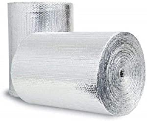 Double Bubble Reflective Foil Insulation (36 inch X 10 Ft Roll) Industrial Strength, Commercial Grade, No Tear, Radiant Barrier Wrap for Weatherproofing Attics, Windows, Garages, RV's, Ducts & More! …