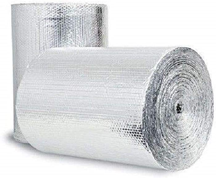 Double Bubble Reflective Foil Insulation (36 inch X 125 Ft Roll) Industrial Strength, Commercial Grade, No Tear, Radiant Barrier Wrap for Weatherproofing Attics, Windows, Garages, RV's, Ducts & More!