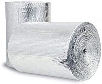 Double Foil Silver Bubble Insulation Radiant Barrier Heat Reflective Heavy Duty