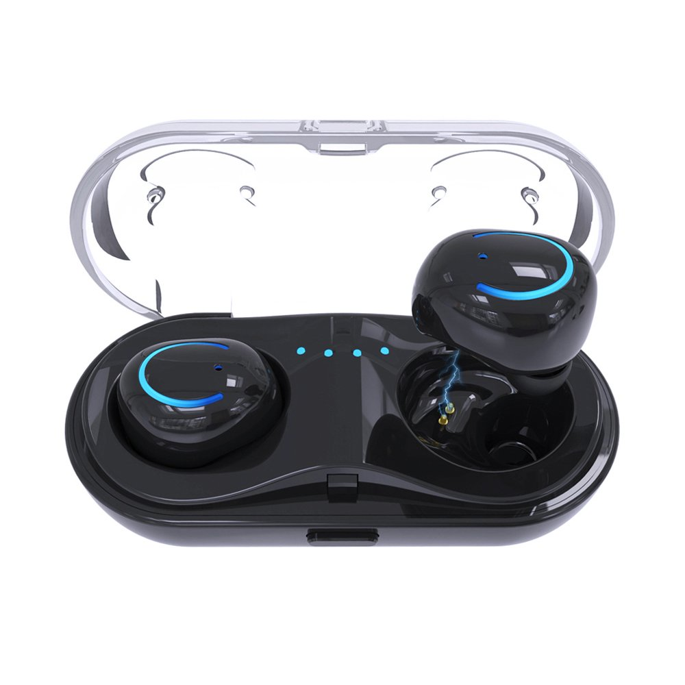 Bluetooth Headset, Stereo in-Ear Sweat-Proof Sports earplugs, Hands-Free Noise Reduction X 8 8plus 7 7plus 6S Samsung iOS Android Smartphone All Bluetooth Devices CCXCTS