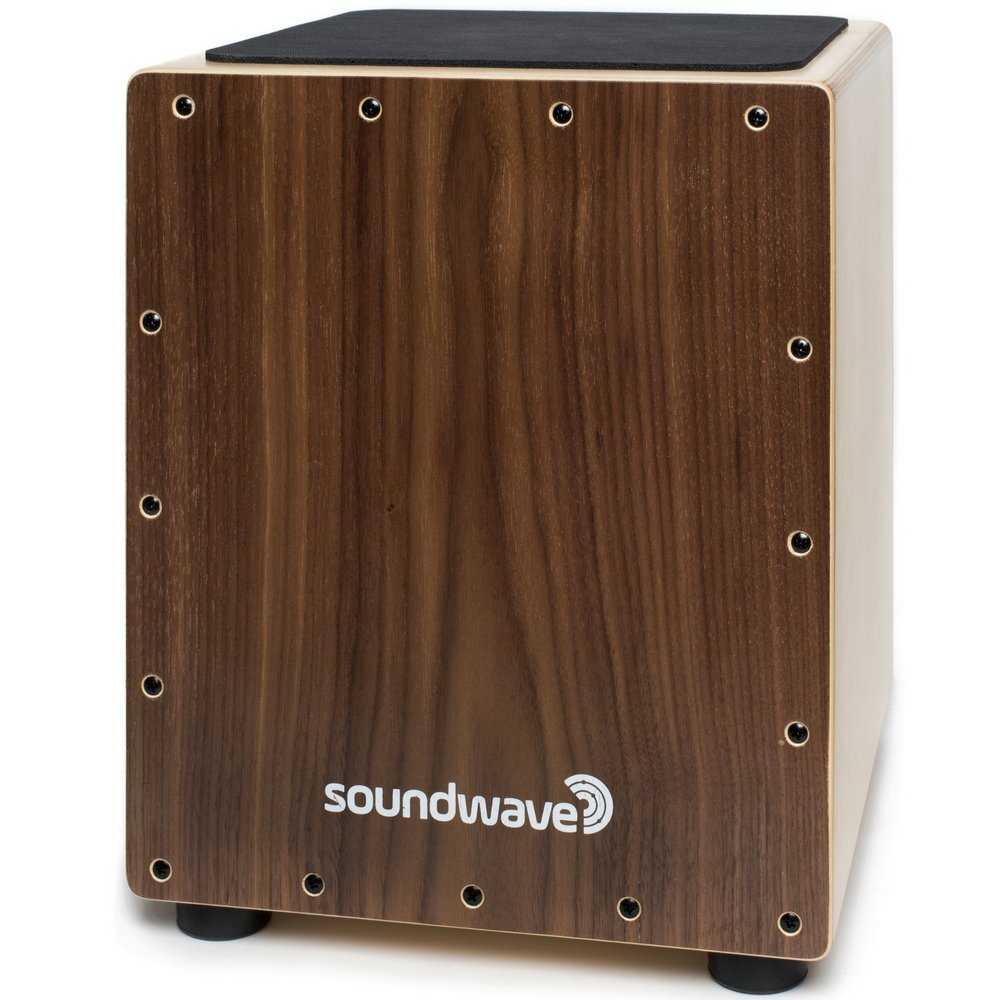 Soundwave Cajon Box Drum   The Original Acoustic Percussion Instrument You Sit On Wooden Drum Box with Compact and Portable Design