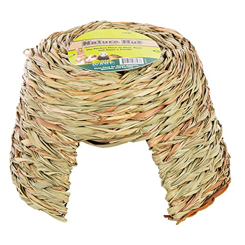- Ware Manufacturing Natural Willow and Grass Pet Hut for Small Pets, Large