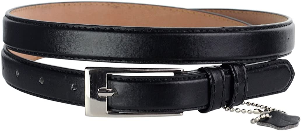 30-34 S , Lt Gray NYFASHION101 Womens Classy Skinny Bonded Leather Casual Belt with Shiny Buckle