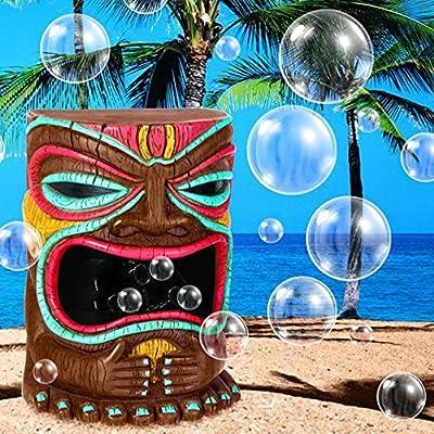 Amscan Tiki Party Bubble Machine, Multicolor, 12 1/4