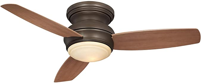 Minka Aire F593L ORB, Traditional Concept LED Bronze Flush Mount 44u0026quot;  Outdoor