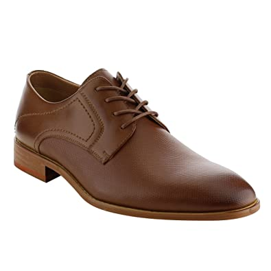 AG55 Men's Lace Up Stacked Heel Office Oxfords