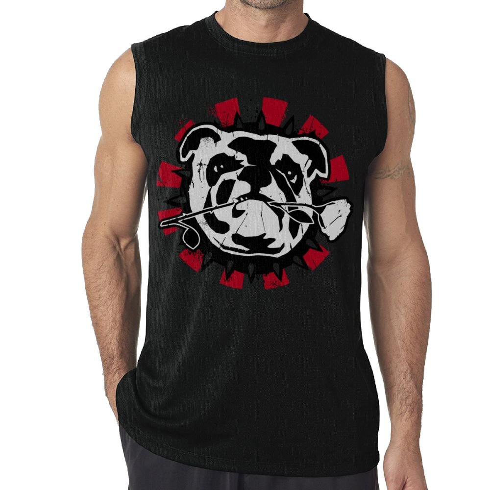 Oopp Jfhg Vest Sleeveless T-Shirts Fit Mens Bulldog Rose Casual