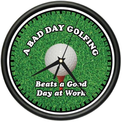 GOLFING 1 Wall Clock golfer golf club hat bag gift