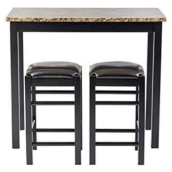 Awesome Pearington Remington High Top Counter Height Bar And Pub Table Set With 2 Chairs Dark Espresso Ibusinesslaw Wood Chair Design Ideas Ibusinesslaworg