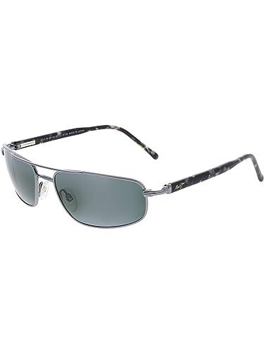 13115c4a8b Amazon.com  Maui Jim Kahuna 162-02 Gun Metal Black Sunglasses  Maui Jim   Shoes