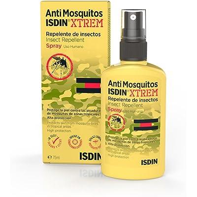 ISDIN Xtrem Spray Anti Mosquitos - Repelente de Mosquitos para la Prevención de Picaduras en Condiciones Extremas y Zonas Tropicales, 1 x 75 ml