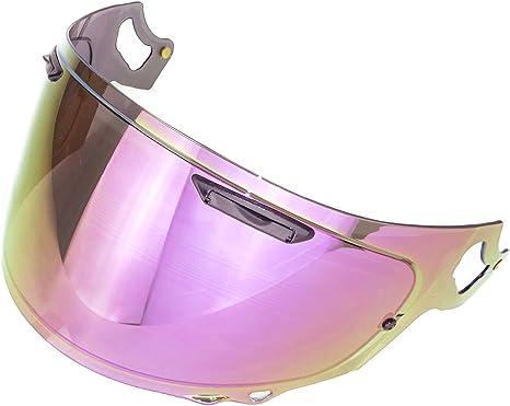 Yamashiro Helmet Extra Mirror Shield Vas V MV Shield Smoke//Gold