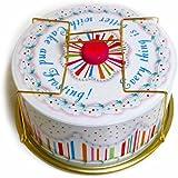 Glitterville Vintage Style Tin Birthday Cake Carrier